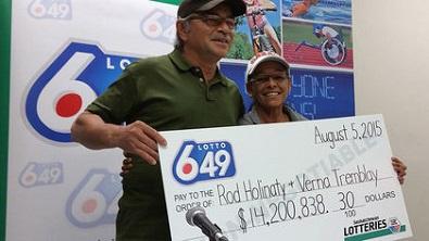 La Ronge man celebrates $14 million lotto win with proposal