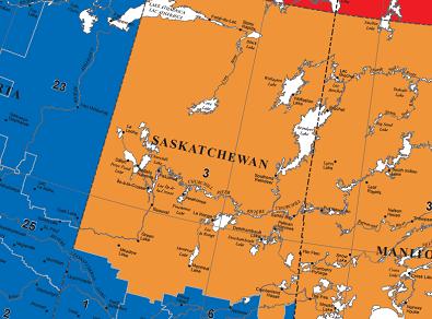 Churchill River Canada Map A Map of the Desnethe Missinippi Churchill River area. Courtesy