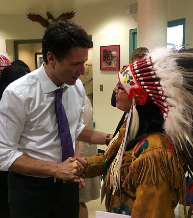 LLRIB chief hands of binder of priorities to Prime Minister