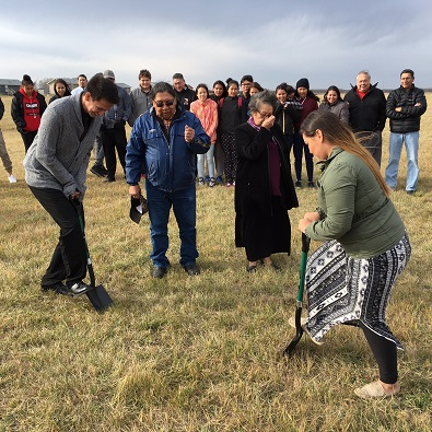 Sod turning for $750,000 youth centre on Pasqua First Nation
