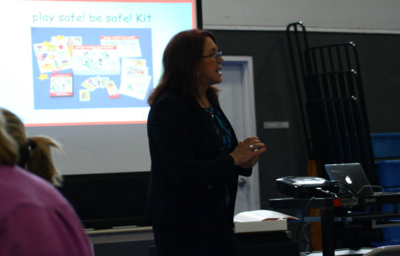Teaching kids safety skills about fire