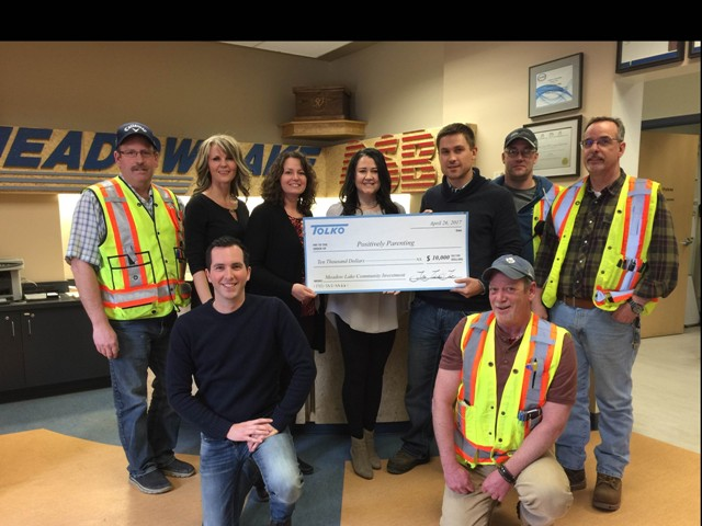 Tolko gives back to Meadow Lake non-profit group