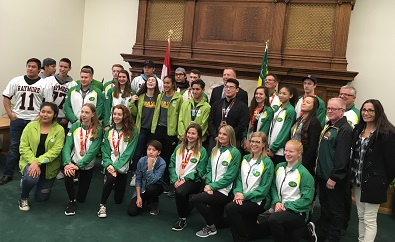 Indigenous athletes honoured in the Saskatchewan Legislature
