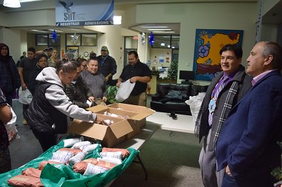 SIIT students receive traditional food for holiday season