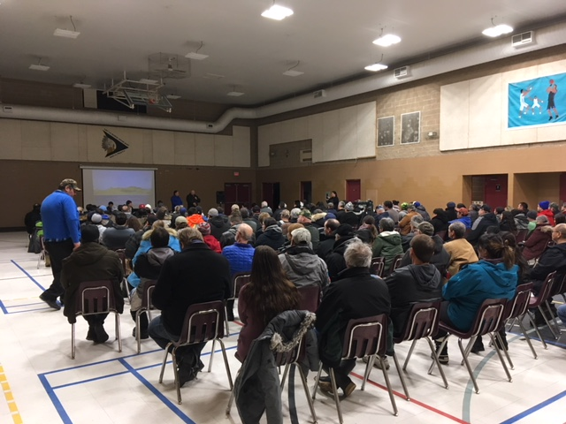 Big turnout for public meeting on proposed open pit mine south of La Ronge