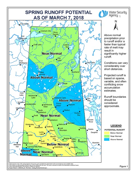 Above normal spring runoff expected in parts of northern Saskatchewan