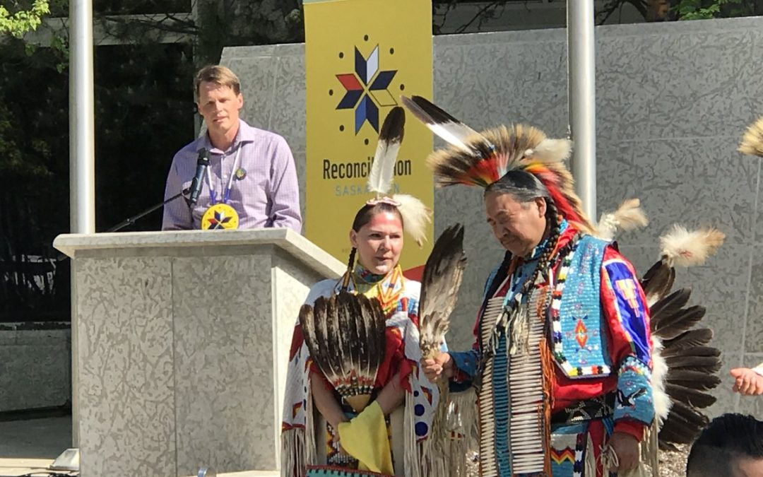 Reconciliation flag raised at Saskatoon city hall