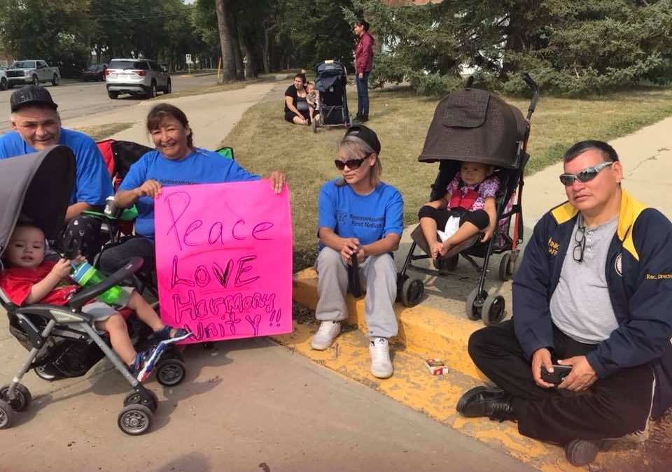 Key First Nation demonstrates against Kamsack loitering bylaw
