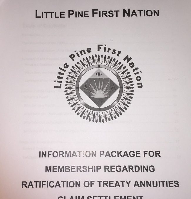 Little Pine First Nation votes on $6.8 million settlement