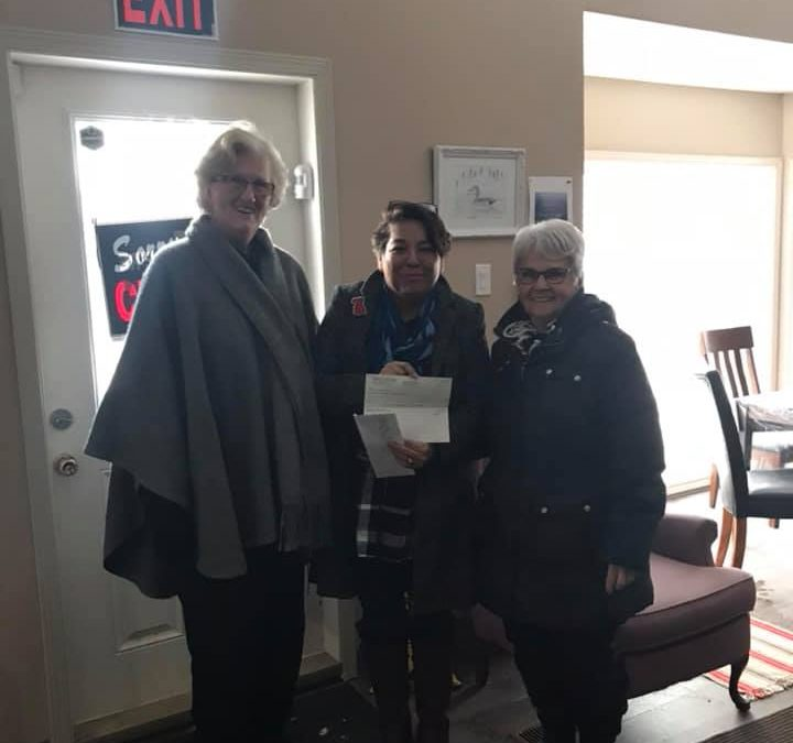 Morningstar Christmas Faire donates funds for playground equipment at Piwapan Women's Centre