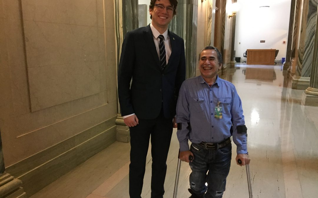 Pinehouse man left to hitch hike to observe International Day of Person's with Disabilities in Regina