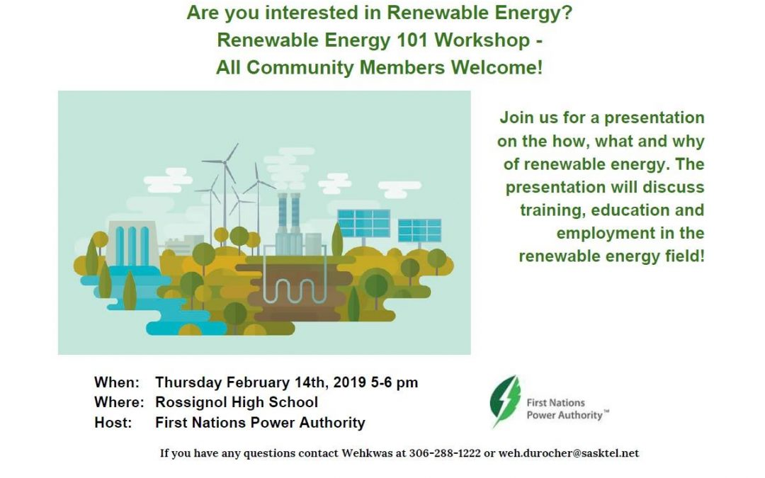 First Nations Power Authority calls on Ile-a-la-Crosse community members to learn about renewable energy