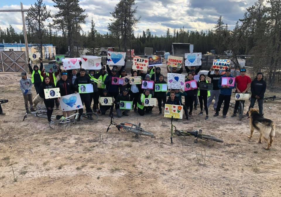 Athabasca region youth cycle towards suicide prevention and awareness