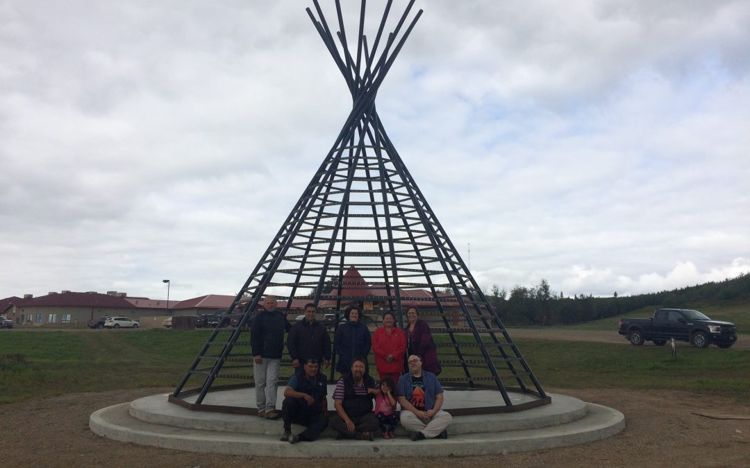 Huge teepee-wind chime monument to be displayed on Onion Lake Cree Nation