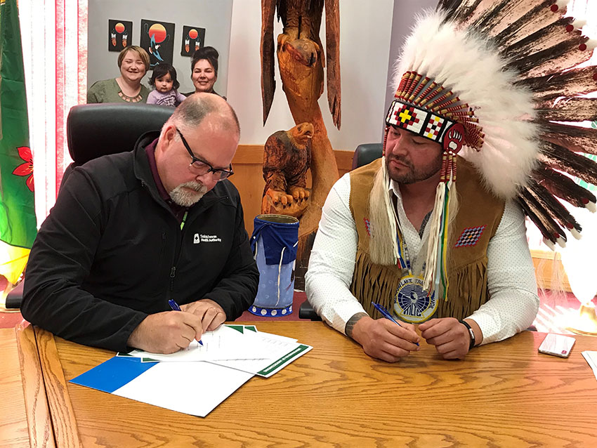 Meadow Lake Tribal Council signs health MOU