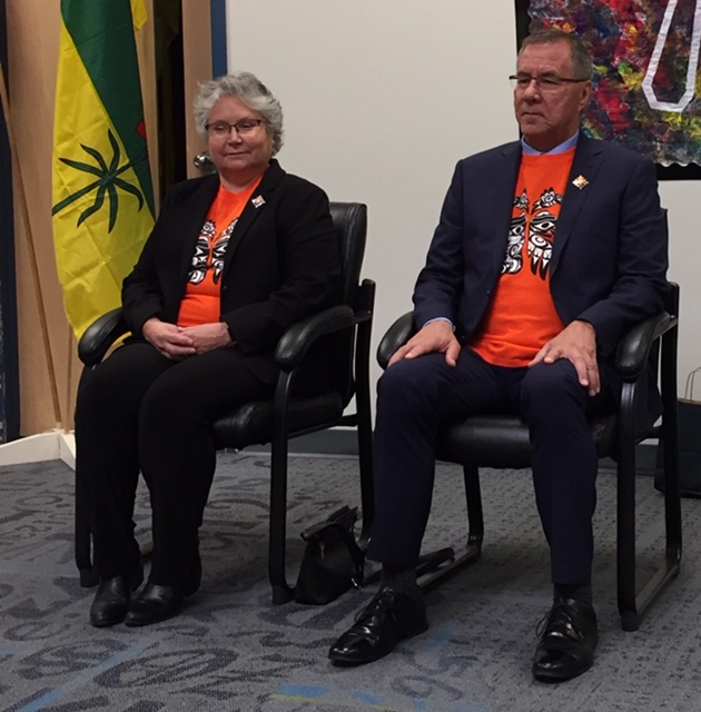 Lieutenant Governor in Prince Albert for Orange Shirt Day commemoration