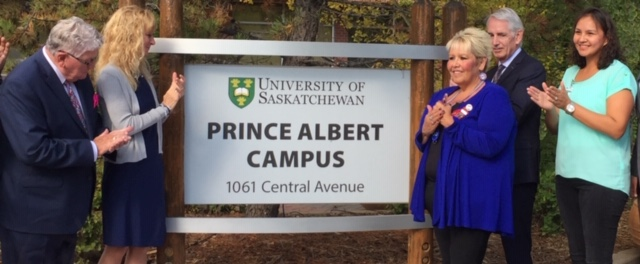 New U of S Prince Albert campus celebrates official sign unveiling