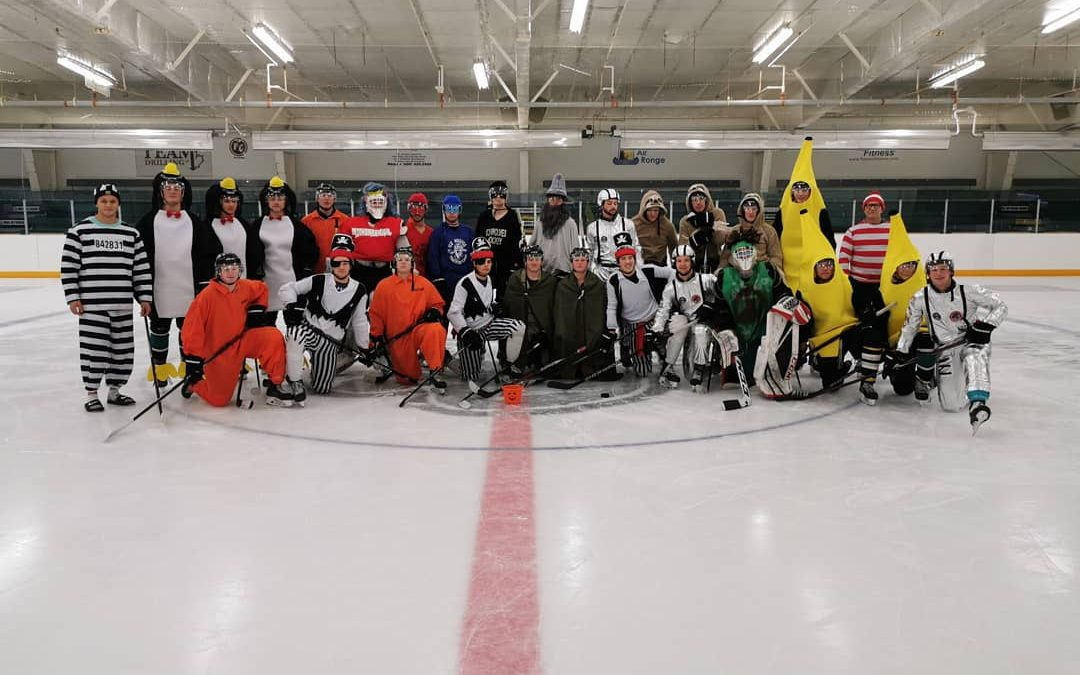 Ice Wolves get into Halloween spirit