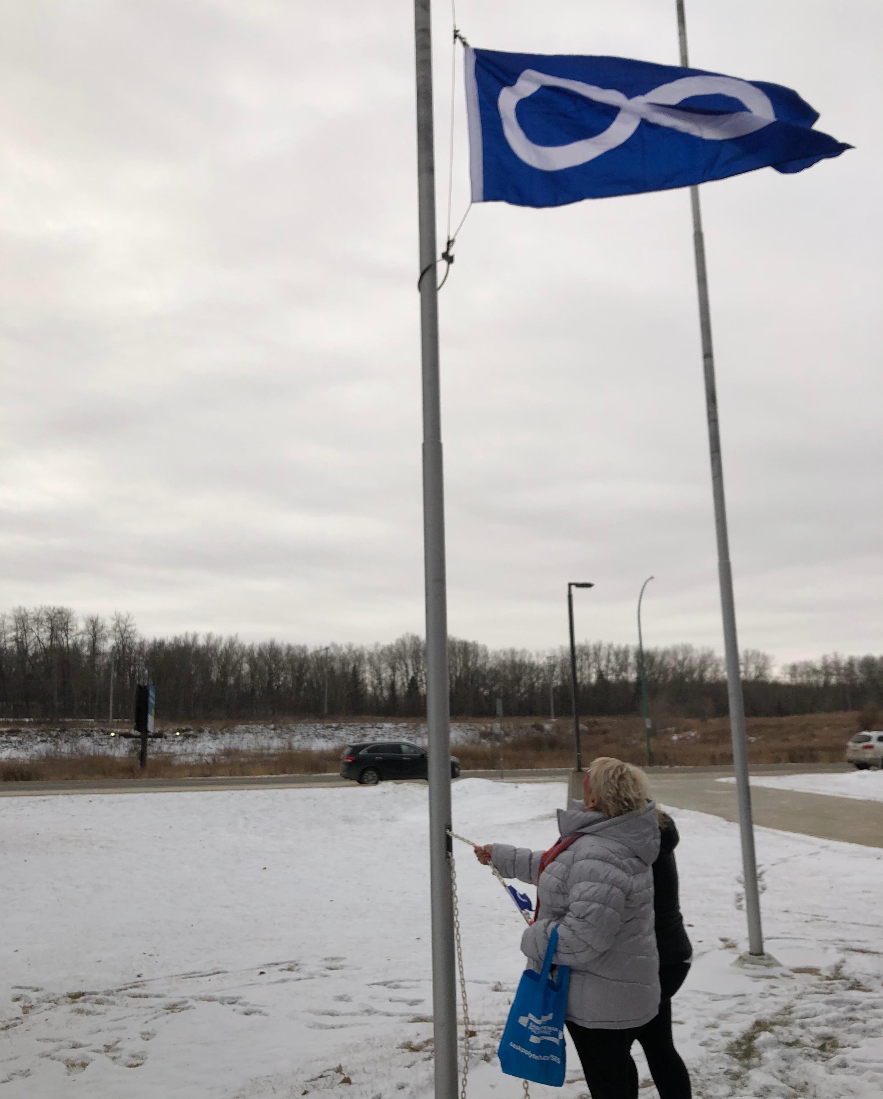 Sask. Polytechnic honours Louis Riel with Métis flag raising ceremonies
