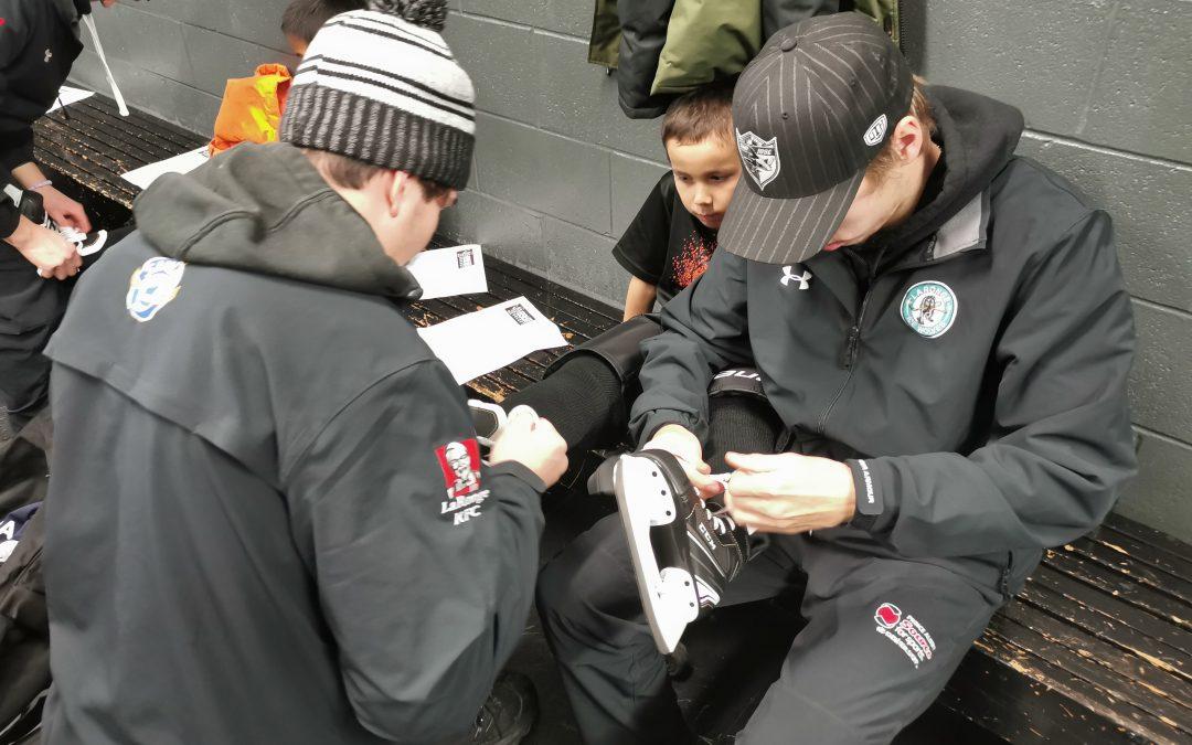 Hockey equipment distributed to northern kids
