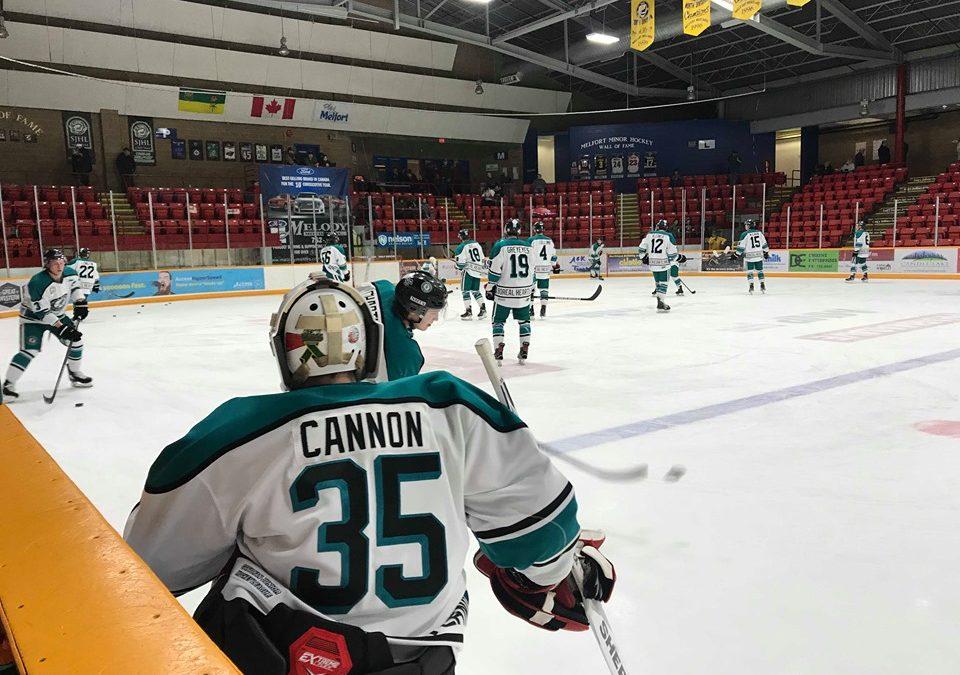 Cannon named SJHL Goalie of the Week