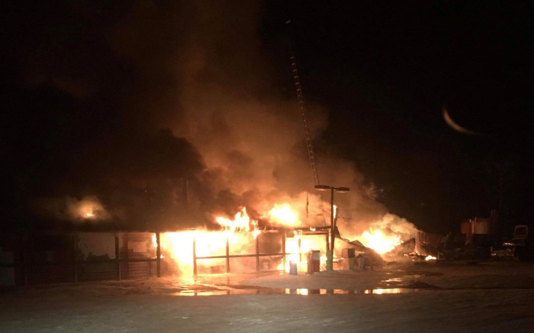 Popular Hanson Lake road stop largely destroyed by fire