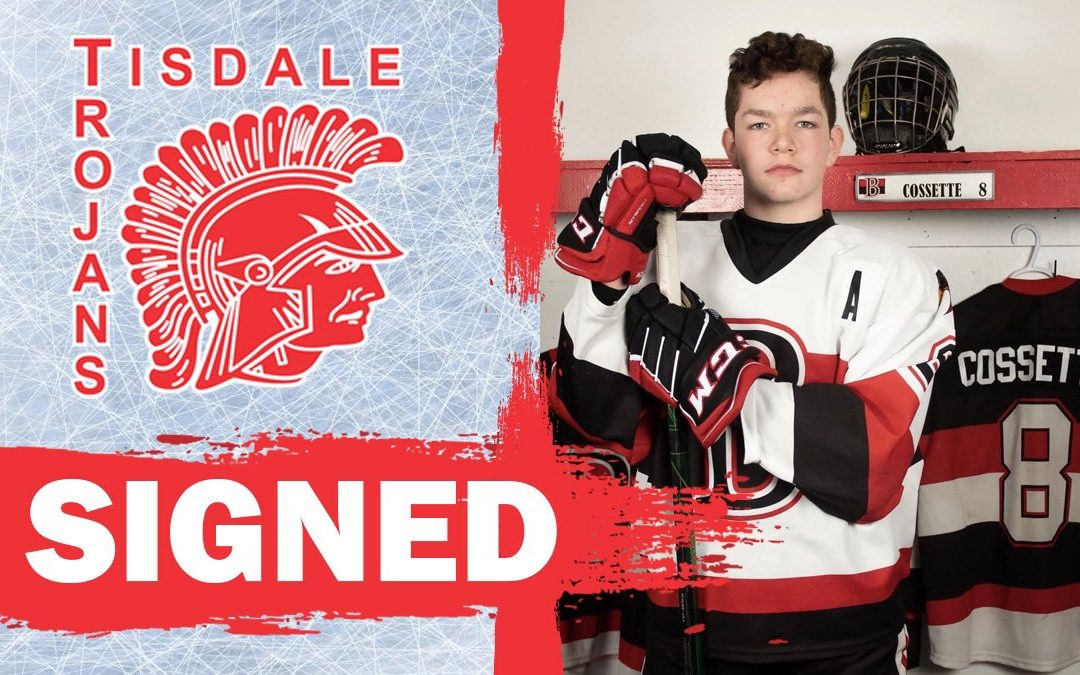 Cossette signs with Tisdale Trojans
