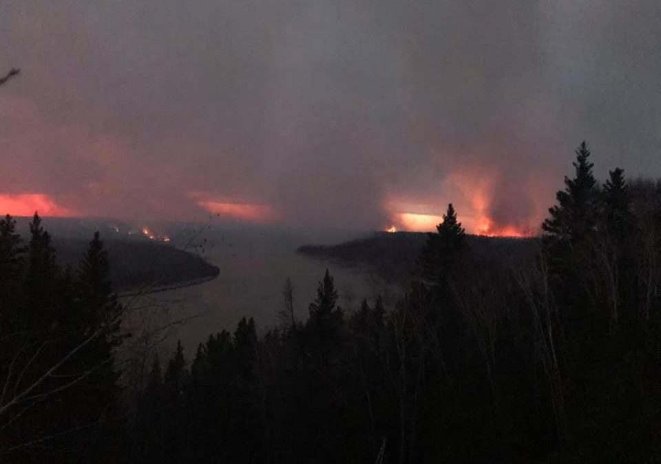 Weather on side of crews fighting English Fire: Sask. Public Safety Agency