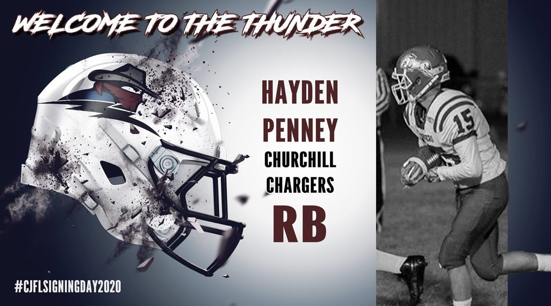 Penney signs with Regina Thunder