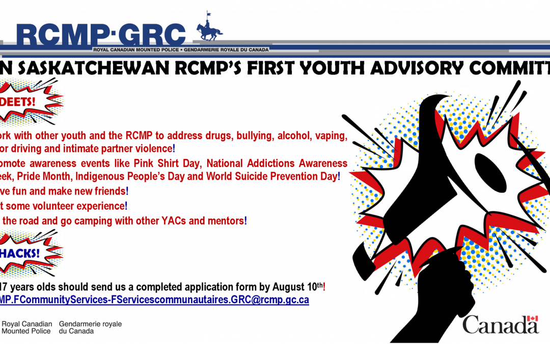 Sask. RCMP to launch Youth Advisory Committee program