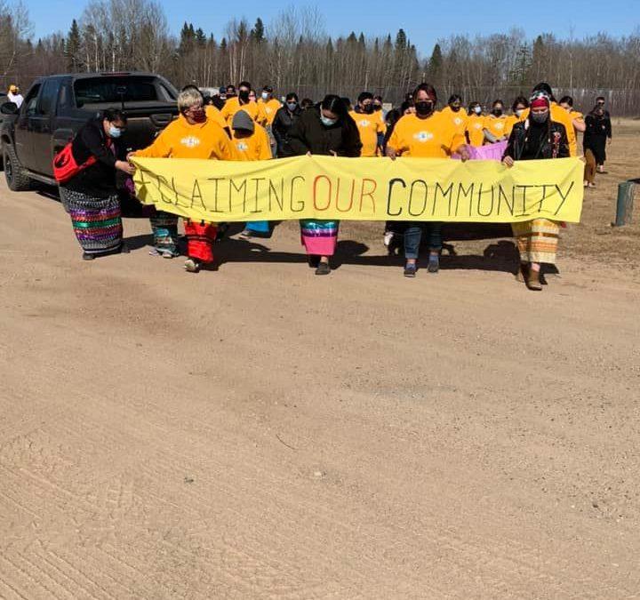 Canoe Lake youth walk promotes healthy, drug-free lifestyles