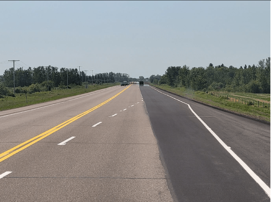 Province says new Highway 2 north passing lanes will reduce collisions