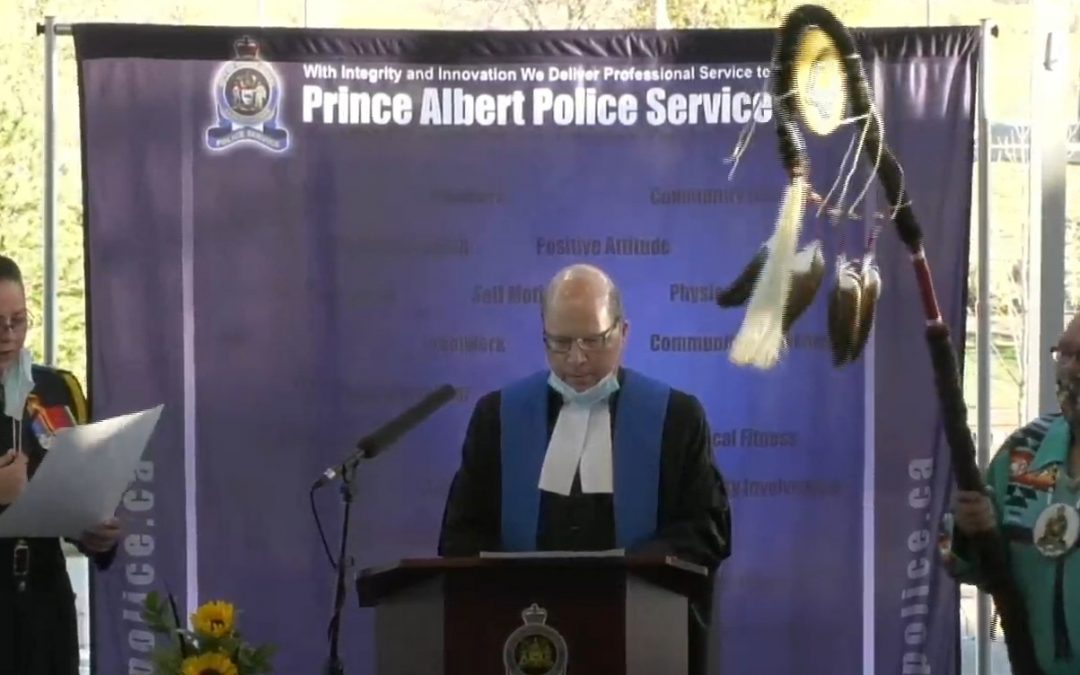 New Prince Albert deputy chief takes oath of office
